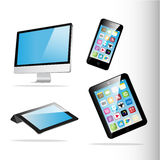 Vector tablet computer Stock Images