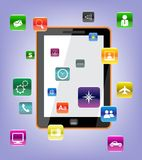 Vector tablet pc. Vector Concept tablet pc icons Royalty Free Stock Photography