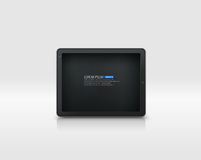 Vector tablet pc. Realistic tablet pc on white Stock Photos