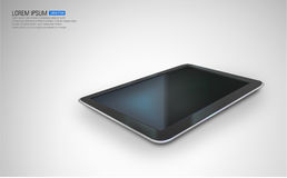 Vector tablet pc. Realistic tablet pc on white Royalty Free Stock Photos