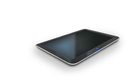 Vector tablet pc. Realistic tablet pc on white Stock Images