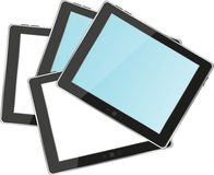 Vector tablets pc with empty white and blue screen Stock Image