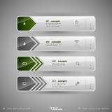 Vector tabs as design elements for business layouts. Royalty Free Stock Photos