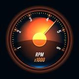 Vector tachometer. Stock Image