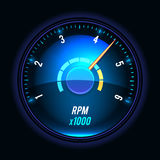 Vector tachometer. Royalty Free Stock Images