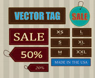 Tag. Vector tag ,size and something others Royalty Free Stock Image