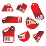 Vector tag and sticker set Royalty Free Stock Photo