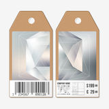Vector tags design on both sides, cardboard sale labels with barcode. Colorful graphic design, abstract vector Royalty Free Stock Photos
