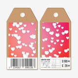 Vector tags design on both sides, cardboard sale Stock Image