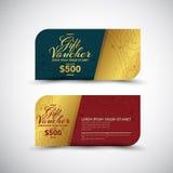 Vector tailandés del diseño de Art Gift Voucher Imagen de archivo