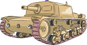Vector. Tank M 42. royalty free illustration