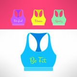 Vector tank top with printing in modern flat Royalty Free Stock Photo