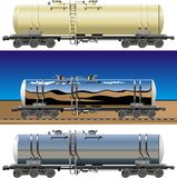Vector tanker cars Royalty Free Stock Photo