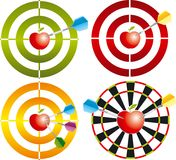 Vector target with apple. In the centre Stock Illustration