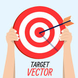 Vector Target. With an arrow. For your business and creative ideas Stock Illustration