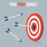 Vector target concept in flat axonometric style Stock Photo