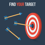 Vector target concept in flat axonometric style Stock Images
