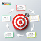 Vector target with dart for infographic. Stock Photography