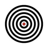 Vector target with dollar sign in the center Royalty Free Stock Photo