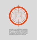 Vector target flat icon. Stock Photos