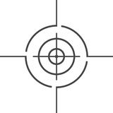 Vector target icon, Crosshair. Vector icon Royalty Free Stock Photography