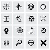Vector target icon set Stock Photos