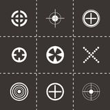 Vector target icons set Stock Images