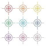 Vector target icons set. Icon Stock Images