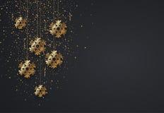 Vector tarjeta de la invitación de las vacaciones de invierno de la Navidad moderna o de la Feliz Año Nuevo 2018 libre illustration