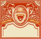 Vector Tarjeta retra del inconformista Organizado por capas Imagen de archivo
