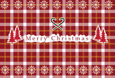 Vector a tartã christan sem emenda, teste padrão da tartã, cartões de Natal Imagens de Stock