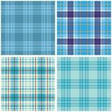 Vector tartan textile texture set. Royalty Free Stock Photography