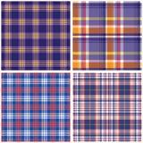 Vector tartan textile texture set. Royalty Free Stock Photos