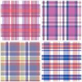 Vector tartan textile texture set Royalty Free Stock Image