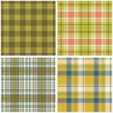 Vector tartan textile texture set Stock Photo