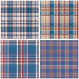 Vector tartan textile texture set Royalty Free Stock Photos