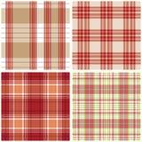 Vector tartan textile texture set Stock Photos