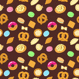 Vector tasty food seamless pattern Stock Images
