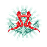 Vector Tattoo Anchor Stock Photography