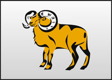 Vector tattoo Aries Royalty Free Stock Images
