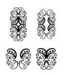 Vector tattoo design element. Elegant pieces, vector curves decor element tattoo royalty free illustration