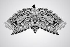 Vector Tattoo Eagle Head Stock Image