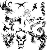 Vector tattoos Stock Images