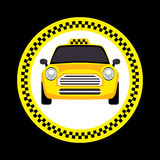 Vector of a taxi Stock Photos
