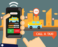 Vector : taxi application Royalty Free Stock Photo