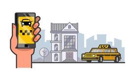 Vector taxi car Royalty Free Stock Image