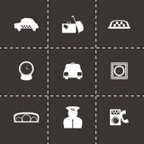 Vector taxi icon set Royalty Free Stock Images