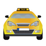 Vector taxi. Vector illustration of taxi cab isolated on white background. Eps format is available Stock Image