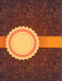 Vector tea background with ribbon. Tea backgorund with ribbon -   vector illustration Stock Photo