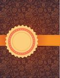 Vector tea background with ribbon. Tea backgorund with ribbon - vector illustration stock illustration